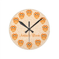 Orange Owl Personalized
