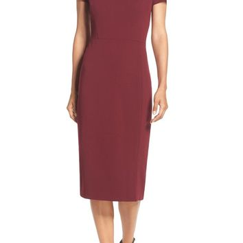 Maggy London Asymmetrical Sheath Dress (Regular & Petite) | Nordstrom