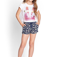 FOREVER 21 GIRLS Floral Print Shorts (Kids)
