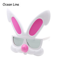 Funny Pink Rabbit Glasses Party Favors Costume Mask Easter Halloween Photo Booth Props Gifts Party Supplies Decoration