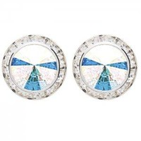 Post Swarovski Performance Earrings 2710 12mm/17mm Dasha
