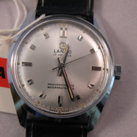 Vintage rare Lanco Swiss watch 447 17j NIB with tags men's wristwatch - Gift for him