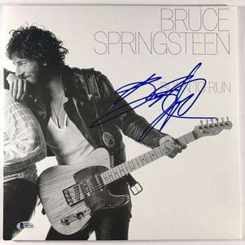 DCCKJNG Bruce Springsteen Signed Autographed 'Born to Run' Record Album (Beckett COA)