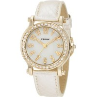 Pedre Women's 6682GX Gold-Tone with Light-Gold Strap Watch - designer shoes, handbags, jewelry, watches, and fashion accessories | endless.com