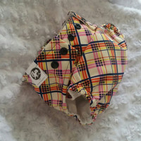 Funky Plaid - Cover or Pocket Diaper - One-Size or Newborn, S, M, L