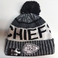 Kansas City Chiefs New Era Knit Hat Black 2017 Sideline Beanie Stocking Cap NFL