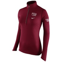Women's Nike Garnet Florida State Seminoles Tailgate Element Performance Half-Zip Jacket