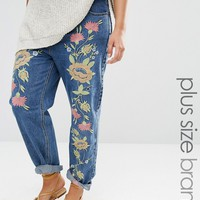 Alice & You Boyfriend Jean With Floral Embroidery