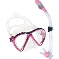 Cressi Lince Mask with Dry Snorkel Set, Pink