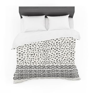 "Pom Graphic Design ""Wind Day"" White Black Featherweight Duvet Cover"