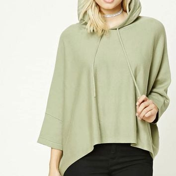 Contemporary Hooded Dolman Top