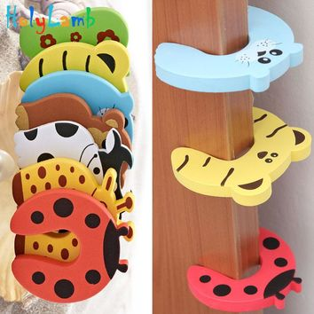 7Pcs/Lot Animal Baby Security Door Card Protection Tools Baby Safety Gate Products Newborn Care Cabinet Locks Straps