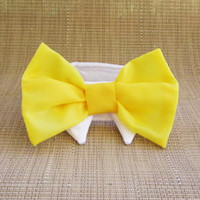 Wedding or any Event  Bow Ties for  that Special Dog or Cat Sunflower Yellow Formal Collar