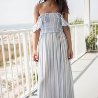 Mimosa Moment Chambray and White Maxi