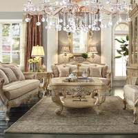 Homey Design HD-4931 Complete Living Room Sofa, Loveseat, Chair & Table Set