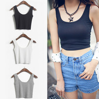 Sexy Model Crop Top Cropped Vintage Tops Tank