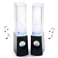 NEW LED Dancing Water Music Fountain Light Computer Speaker / Iphone5S /PC Black