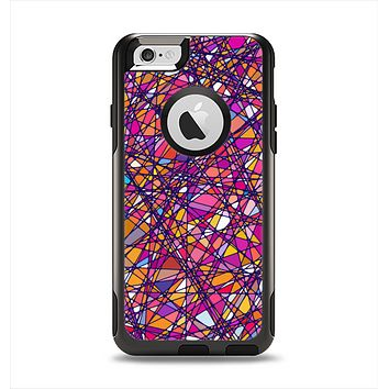 The Shards of Neon Color Apple iPhone 6 Otterbox Commuter Case Skin Set