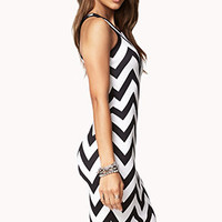 Chevron Midi Dress