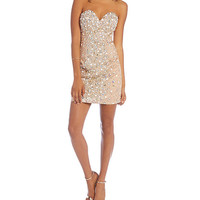 Glamour by Terani Couture Beaded Sheath Dress | Dillards