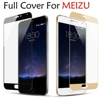 9H Color Full Cover Tempered Glass for MEIZU M3S Mini M5S M5 Note M5C MX6 M6 Note Screen Protector for Meizu M3E M3 Note Pro 6 7