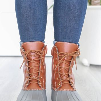 Autumn Showers Duck Boots - Grey