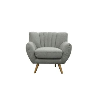 Lilly 1-Seater Lounge Chair - Light Grey | Modern, Mid-Century & Scandinavian | GFURN