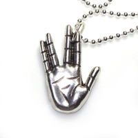 Star Trek Vulcan hand sign - Live long and Prosper - Long 24 inch BALLCHAIN