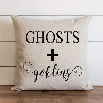 Halloween Pillow Cover // Ghosts + Goblins