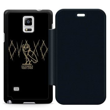 Ovoxo October Very Own Leather Wallet Flip Case Samsung Galaxy Note 4