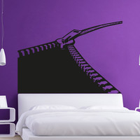 Vinyl Wall Decal Sticker Opening Curvy Zipper #OS_AA1340