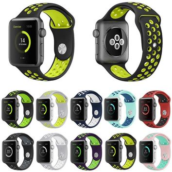 BUMVOR Sports Silicone strap for Apple Watch Iwatch band 40/44/42/38MM for iwatch 1 2 3 4 Band men Rubber bracelet With Adapter