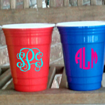 Personalized/Monogrammed Double layered, durable 16 oz Solo Style Party Cups