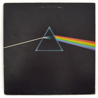 Vintage 70s Pink Floyd Dark Side of the Moon Gatefold Prog Rock Album Record Vinyl