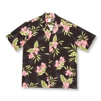 midnight hawaiian boy shirt
