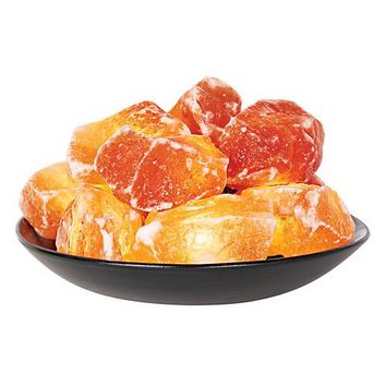 Himalayan Salt Crystal Stones Fire Bowl - #76896 | Lamps Plus