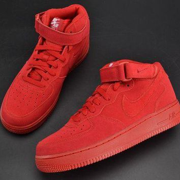 DCCKL8A Jacklish Nike Air Force 1 Mid Gym Red 315123-609 For Sale