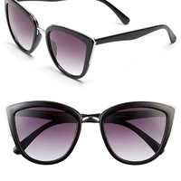 Junior Women's BP. 55mm Metal Rim Cat Eye Sunglasses