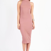 Leila Midi Dress - Tan @ LushFox.com :: Current Fashion Trends & Styles