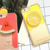 Fruit liquid phone case for iphone 6 6s 6 plus 6s plus + Nice gift box 080902