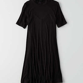 AEO Soft & Sexy Mock Neck Dress, True Black