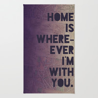 With You Rug by Leah Flores | Society6