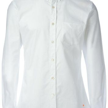 DCCKIN3 Tomas Maier button-down collar shirt with a palm tree detail to the front