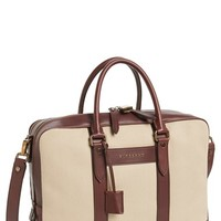 Men's Burberry 'Stoke' Twill & Leather Briefcase