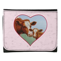 Cow and Calf Pink Heart Wallet