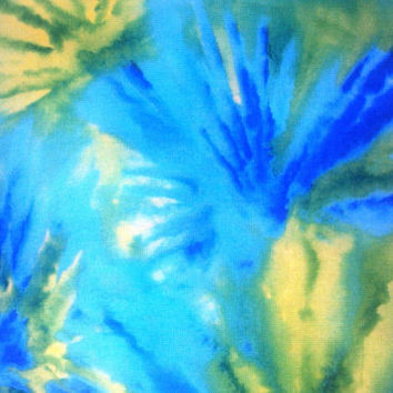 New, Cotton Quilting Fabric BY the YARD, Vivid Tie Dyed Look by Blank Quilting