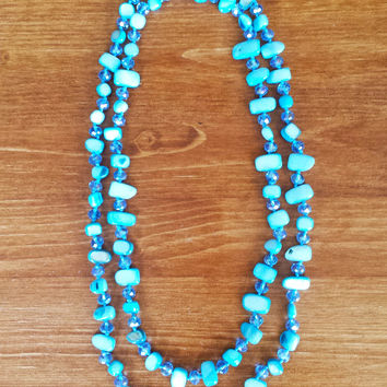 Light Blue Mother-of-Pearl Necklace