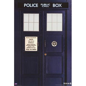 Doctor Who TARDIS Poster 24x36