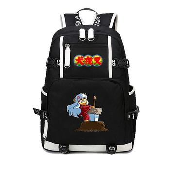 Anime Backpack School Japan kawaii cute Inuyasha Cosplay Sesshoumaru cosplay bag men women canvas backpack travel Backpack For Teenagers student book bag AT_60_4