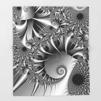 Silver Thorn Throw Blanket by Christy Leigh | Society6